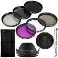 6-Piece Lens Filter Set with Lens Hood and Cap - UV CPL...