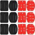 Neewer 3-Pack Adhesive Mounts with Sticky Pads for GoPro Cameras, Flat Mounts,...